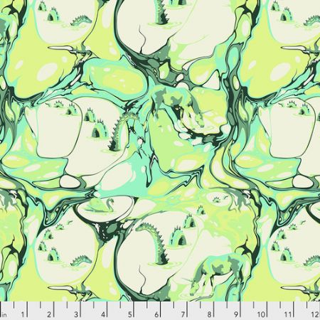 Pinkerville Free Spirit Fabrics Blind Faith Frolic Green
