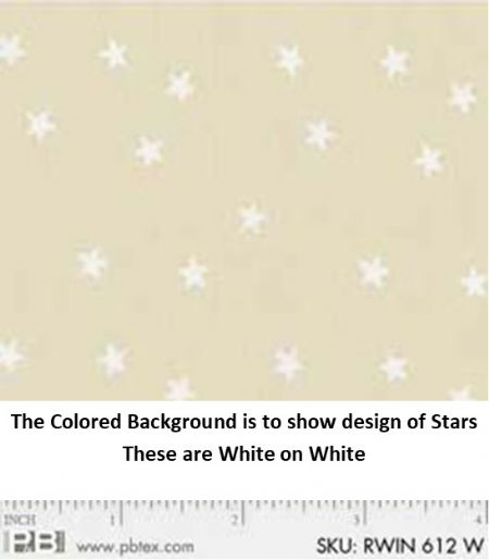 P&B Textiles Ramblings White on White Small Stars
