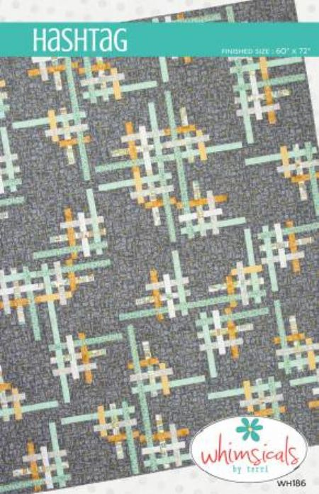 Quilt Pattern Hashtags by Whimsicals Finished size: 60' 'x 72''