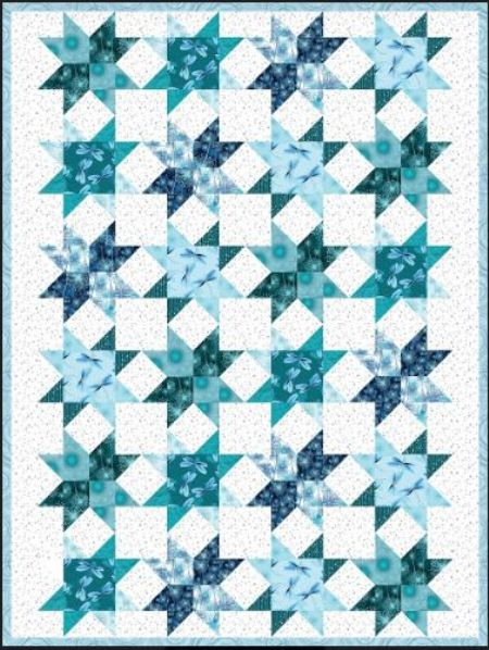 Quilt Kit Top Diamond & Pearls TEAL Finished size: 59 x 74