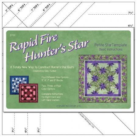 Rapid Fire Hunters Star PETITE Template ruler Studio 180 Design