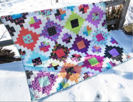 Quilt Kit Stacked Gypsy by Sew Many Creations Finished Size: 72 x 72