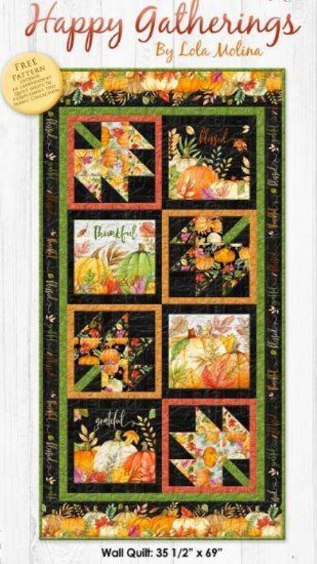 Quilt Kit Top Happy Gatherings by Lola Moline Wall Quilt
