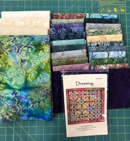 Quilt Kit Dreaming by Laundry Basket Quilts finished size: 87'' sq