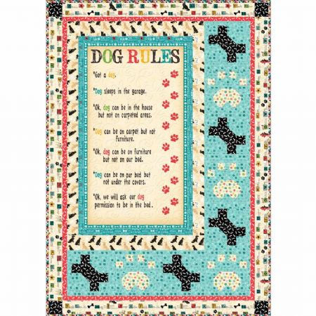 Quilt Kit Top Dog Rules  59 x 68