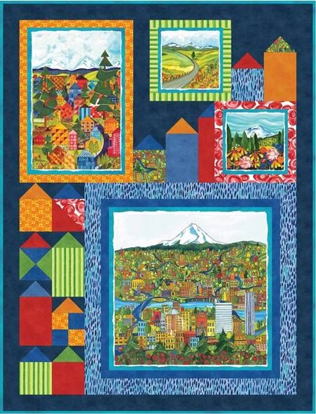 Quilt Kit Top SALE 50% off Quiltlandia Finished size: 38 x 50