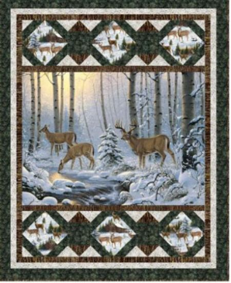 Quilt Kit Top Winter Refuge Wall Hanging 40 x 49