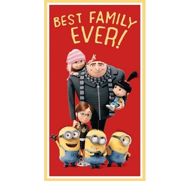 Minions  Panel  Best Family Ever 24 x 44