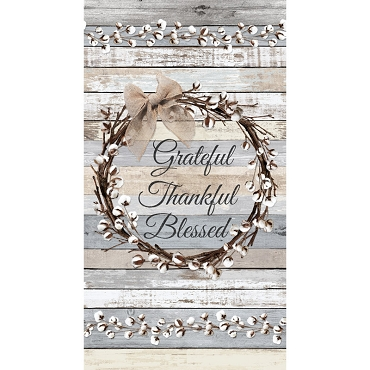 Cotton Blossoms Timeless Treasures Grateful Multi Panel 24 x 44