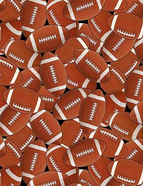 Packed Footballs by Timeless Treasures
