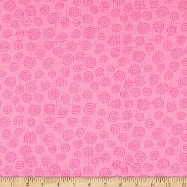 Fit for a Queen Quilt Backing 108 by 110 Westrade Textiles Swirls Pink