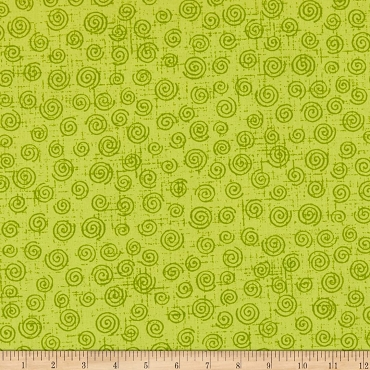 Fit for a Queen Quilt Backing 108 by 110 Westrade Textiles Swirls Green