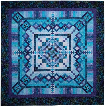 Quilt Kit Top Fantasy Tonga Timeless Treasures 102 Square