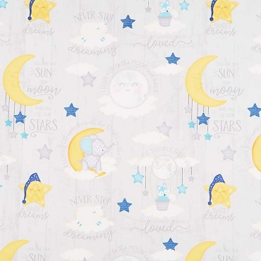 All Our Stars Wilmington Prints  Sleepy Time Grey