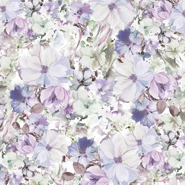 Arabesque Watercolor  P&B Textiles 108 Wide Backing Violet