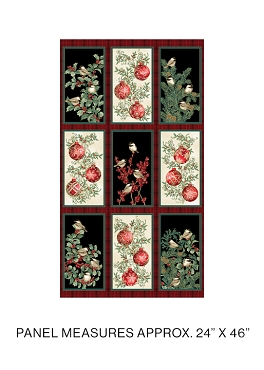 Winter Elegance Benartex Winter Elegance Ornaments Panel 24 x 44
