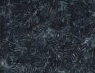 Blue Palm Leaves Batik Wilmington Prints