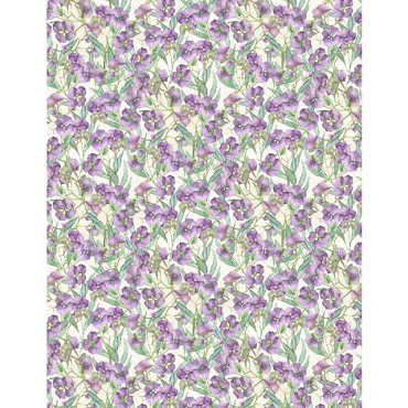 Violette Wilmington Prints Small Hydrangeas Cream