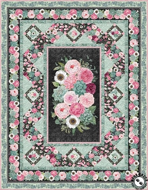 Quilt Kit Top Botanical Oasis Wilmington Prints 64.5 x 82.5