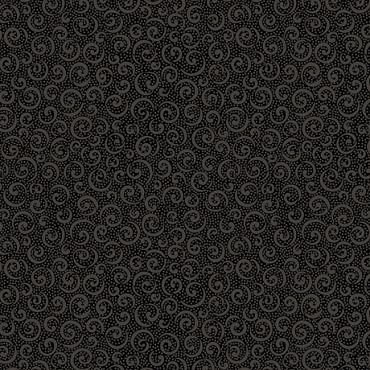 Quilting Illusions QT Fabrics Curly Cue Black