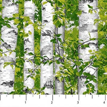Naturescapes Northcott Birch Trees Green