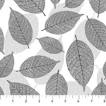 Silhouette Northcott Large Leaves Black Gray