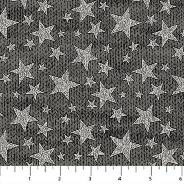 My America Northcott Dark Grey Tonal Stars
