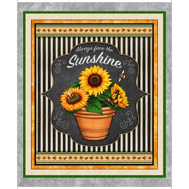Always Face The Sunshine QT Fabrics Panel 36 by 44