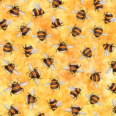 Always Face The Sunshine QT Fabrics Bees Butterscotch