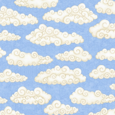 Lullaby  QT Fabrics Clouds Blue