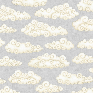 Lullaby  QT Fabrics Clouds Gray