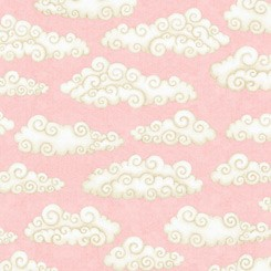 Lullaby  QT Fabrics Clouds Pink