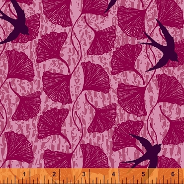 Norma Rose Windham Fabrics Song Birds Pink
