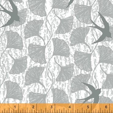 Norma Rose Windham Fabrics Song Birds Grey