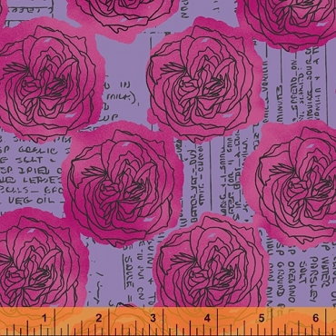 Norma Rose Windham Fabrics Kitchen Bouquet Lavender