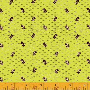 Norma Rose Windham Fabrics  Seedlings Lime