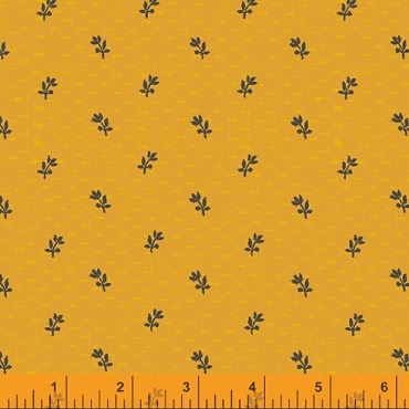 Norma Rose Windham Fabrics  Seedlings Gold
