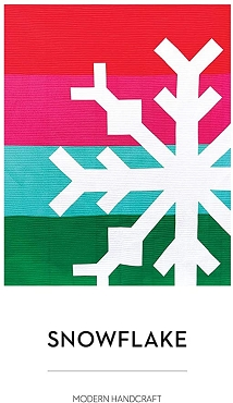 Quilt Pattern Snowflake by Modern Handcraft Finished size 60 x 72