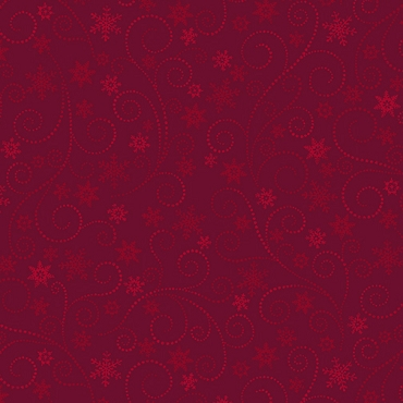 Winter Elegance Benartex Swirling Frost Red