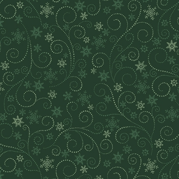 Winter Elegance Benartex Swirling Frost Green