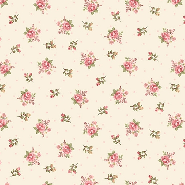 A Peaceful Gardens Henry Glass Flannel Small Floral Cream