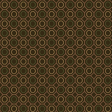 October Morning Henry Glass Fabrics Brown Dotted Hexies