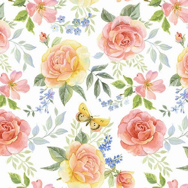 Garden Inspirations Henry Glass & Co. Tossed Large Roses Multi