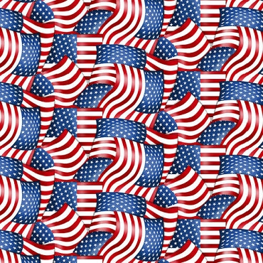 American Truckers Henry Glass Fabrics American Flag Packed