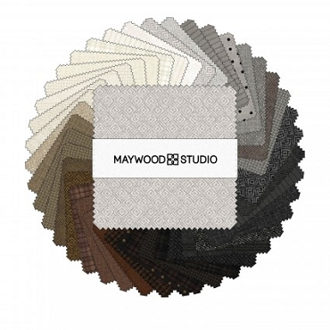 Woolies Flannel Neutral Maywood Studio 5 inch Squares  42 pieces  Vol  2