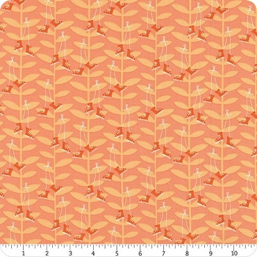 Playground Windham Fabrics Coral Bean Stalk
