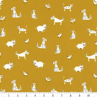 Playground Windham Fabrics Gold Friends