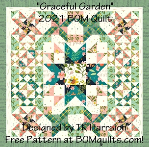 Quilt Kit: Graceful Garden 2021 BOM Quilts