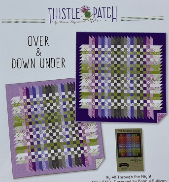 Quilt Kit Top Thistle Patch Clothworks Over and Under 56 x 56