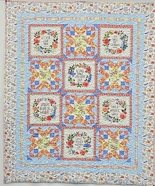 Quilt Kit Top Garden Inspirations Henry Glass & Co 52 by 64